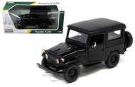 Toyota FJ40 FJ 40 Matt Black Platinum 1/24 Scale Diecast Car Model By Motor Max 79323