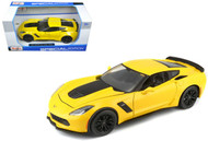 2015 Chevrolet Corvette Z06 C7 Stingray Yellow 1/24 Scale Diecast Car Model By Maisto 31133