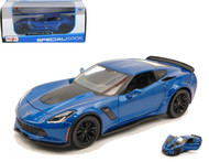 2015 Chevrolet Corvette Z06 C7 Stingray Blue 1/24 Scale Diecast Car Model By Maisto 31133