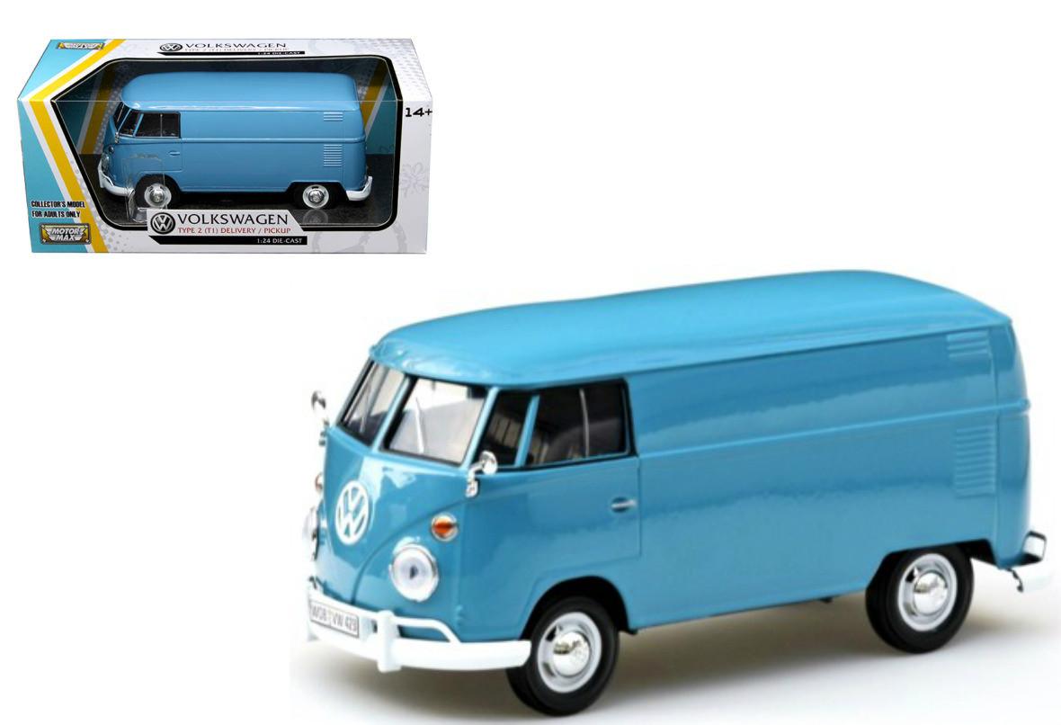 6c3bfa097c1447 Volkswagen Type 2 T1 Delivery Van Bus Dove Blue 1 24 Scale ...