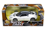 Lotus Evora S Matt White 1/24 Scale Diecast Car Model By Motor Max 79505