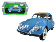 1950 Volkswagen Classic Beetle Blue 1/18 Scale Diecast Car Model By Welly 18040