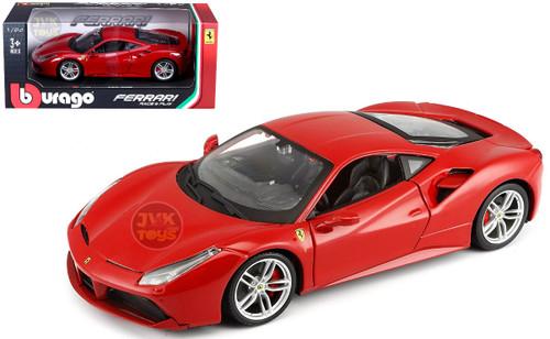 Ferrari 488 GTB Red 1/24 Scale Diecast Car Model By Bburago 26013
