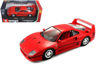 Ferrari F40 Red 1/24 Scale Diecast Car Model By Bburago 26016