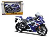 Suzuki GSX R750 Blue Motorcycle Bike 1/12 Scale By Maisto 31153