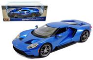 2017 Ford GT Blue 1/18 Scale Diecast Car Model By Maisto 31384