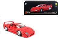 Ferrari F40 F-40 Red Original Series 1/18 Scale Diecast Car Model By Bburago 16601