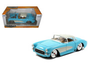 1957 Chevrolet Corvette Blue 1/24 Scale Diecast Car Model By Jada 98162