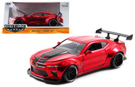 2016 Chevrolet Camaro SS Wide Body With GT Wing Red 1/24 Scale Diecast Car Model By Jada 98136