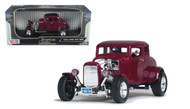 1932 Ford Hot Rod Burgundy 1/18 Scale Diecast Car Model By Motor Max 73172