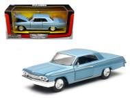 1962 Chevrolet Impala SS Blue 1/24 Scale Diecast Car Model By Newray 71843