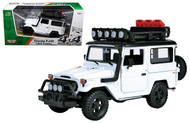 Toyota FJ40 Land Cruiser White 4x4 Overlanders Series 1/24 Scale Diecast Model By Motor Max 79137