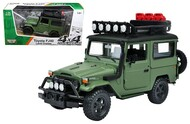 Toyota FJ40 Land Cruiser Green 4x4 Overlanders Series 1/24 Scale Diecast Model By Motor Max 79137