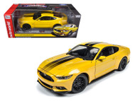 2016 Ford Mustang GT 1002 Made LE Yellow 1/18 Scale Diecast Car Model By AutoWorld AW229