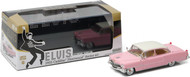 1955 Cadillac Fleetwood Series 60 Elvis Presley Pink Cadillac 1/43 Scale Diecast Car Model By Greenlight 86491