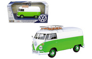 Volkswagen Type 2 Van Bus With Basket On Roof 1/24 Scale Diecast Car Model By Motor Max 79551