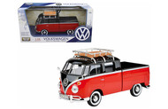 Volkswagen Type 2 T1 Pickup Truck With Basket On Roof 1/24 Scale Diecast Car Model By Motor Max 79552