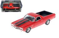 1970 Chevrolet El Camino SS 396 Red 1/24 Scale Diecast Car Model By Moor Max 79347