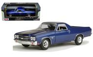 1970 Chevrolet El Camino SS 396 Blue 1/24 Scale Diecast Car Model By Motor Max 79347