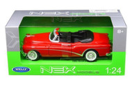 1953 Buick Skylark Convertible Red 1/24 Scale Diecast Car Model By Welly 24027