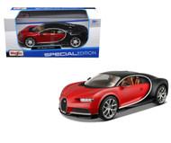 Bugatti Chiron Red & Black 1/24 Scale Diecast Car Model By Maisto 31514