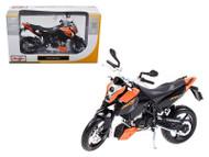 KTM 690 Duke Orange / Black Motorcycle 1/12 Scale Diecast Model By Maisto 31181