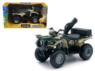 Suzuki Vinson 4x4 500 Quad Runner Green ATV Motorcycle 1/12 Scale Diecast Model By NewRay 42903