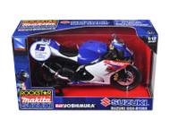 Suzuki GSX-R1000 #6 Makita Suzuki Rockstar Bike Motorcycle 1/12 Scale By NewRay 57017