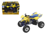 Suzuki Quad Racer R450 Yellow/Blue ATV Motorcycle 1/12 Scale Diecast Model By NewRay 43393