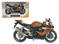Suzuki GSX R1000 Bronze Motorcycle 1/12 Scale Diecast Model By Maisto 31106