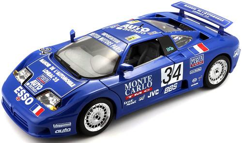 BUGATTI EB 110 SS #34 24HR LE MANS 1994 1/18 DIECAST CAR MODEL BY BBURAGO 11039