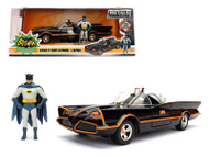 1966 Classic TV Series Batmobile With Diecast Batman & Plastic Robin In The Car 1/24 Scale Diecast Car Model By Jada 98259