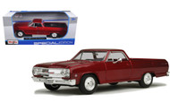 1965 Chevrolet El Camino Metallic Red 1/25 Scale Diecast Car Model By Maisto 31977