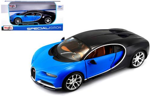 Bugatti Chiron Blue & Black 1/24 Scale Diecast Car Model By Maisto 31514