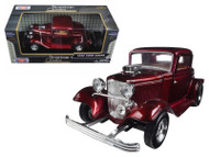 1932 Ford Coupe Burgundy 1/24 Scale Diecast Car Model By Motor Max 73251