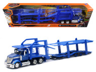 International Lonestar Blue Truck With Twin Auto Car Carrier 1/43 Scale By Newray 16713