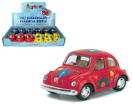 "1967 Volkswagen Classic Beetle Bug Box Of 12 Pull Back 4"" By Kinsmart KT4026"