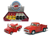 "1956 Ford F-100 Truck Box Of 12 Pull Back 5"" 1/38 Scale By Kinsmart KT5385 D"