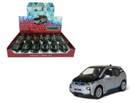 "BMW i3 Box Of 12 Pull Back 5"" 1/32 Scale By Kinsmart KT5380 D"