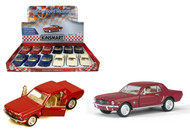 "1964 1/2 FORD MUSTANG TOY CAR BOX OF 12 PULL BACK 5"" 1/36 SCALE BY KINSMART KT5351"