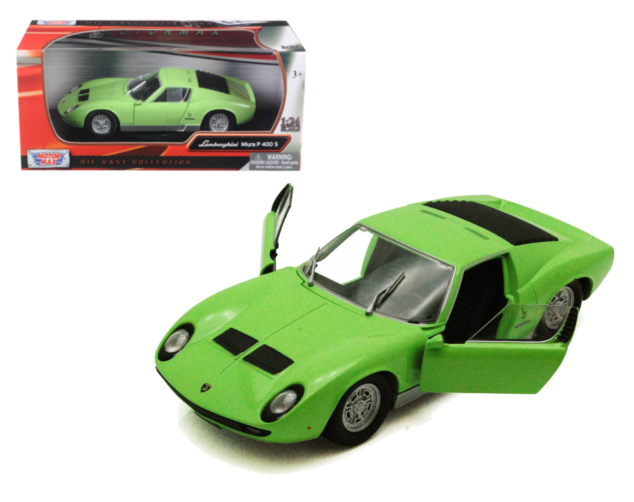 Lamborghini Miura P400 S Green 1 24 Scale Diecast Car Model By