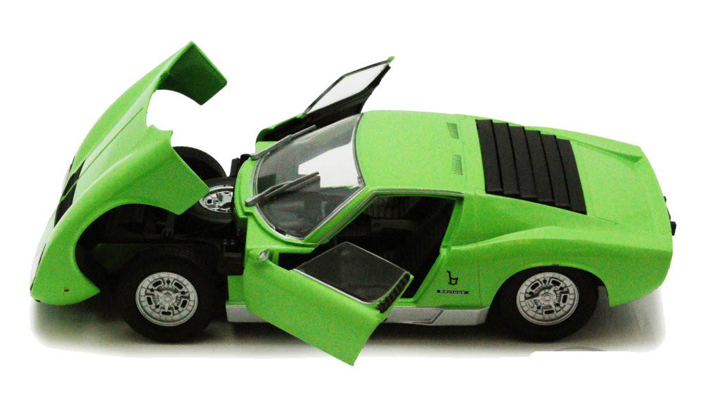 Lamborghini Miura P400 S Green 1 24 Scale Diecast Car Model By Motor