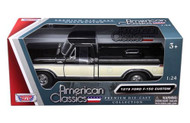 1979 Ford F-150 Pickup Truck Black 1/24 Scale Diecast Model By Motor Max 79346