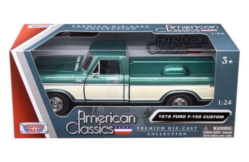 1979 Ford F-150 Pickup Truck Green 1/24 Scale Diecast ...