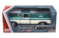 1979 Ford F-150 Pickup Truck Green 1/24 Scale Diecast Model By Motor Max 79346