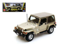 Jeep Wrangler Sahara Khaki 1/18 Scale Diecast Model By Bburago 12014