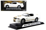 2012 Ford Shelby GT350 White With Gold Stripes Includes A 1/64 Scale Cobra Limited 250 1/18 Diecast Car Model Shelby Collectibles SC325