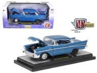 1957 Chevrolet 210 Hardtop Blue Metallic 1/24 Scale Diecast Car Model By M2 Machines 40300-54A