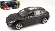 PORSCHE MACAN BLACK 1/24 SCALE DIECAST CAR MODEL BY BBURAGO 21077