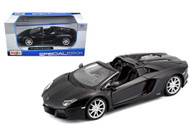 Lamborghini Aventador LP 700-4 Roadster Matt Black 1/24 Scale Diecast Car Model Maisto 31504